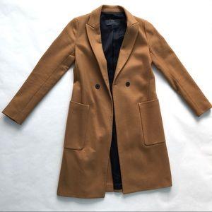 Zara's women's long wool coat (knee length)